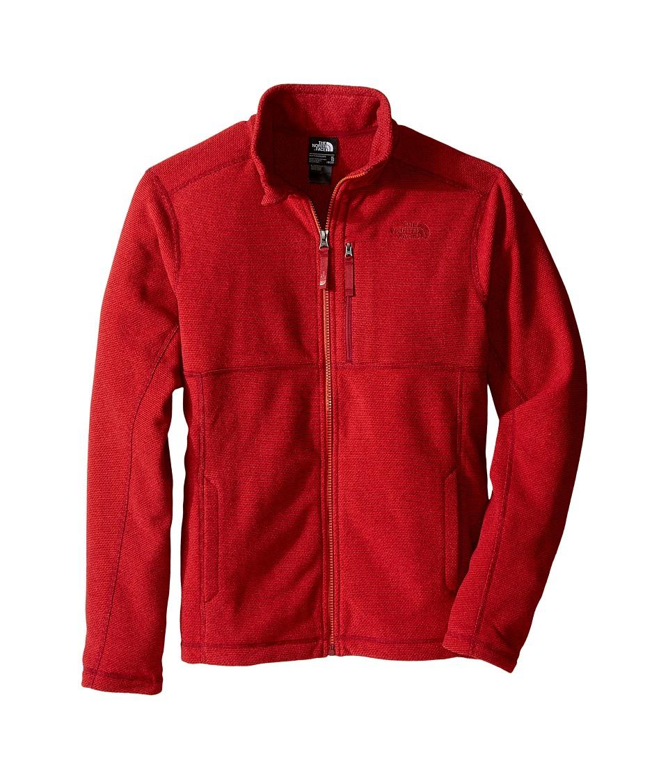 The North Face Kids - Cap Rock Full Zip (Little Kids/Big Kids) (TNF Red Heather) Boy's Sweatshirt