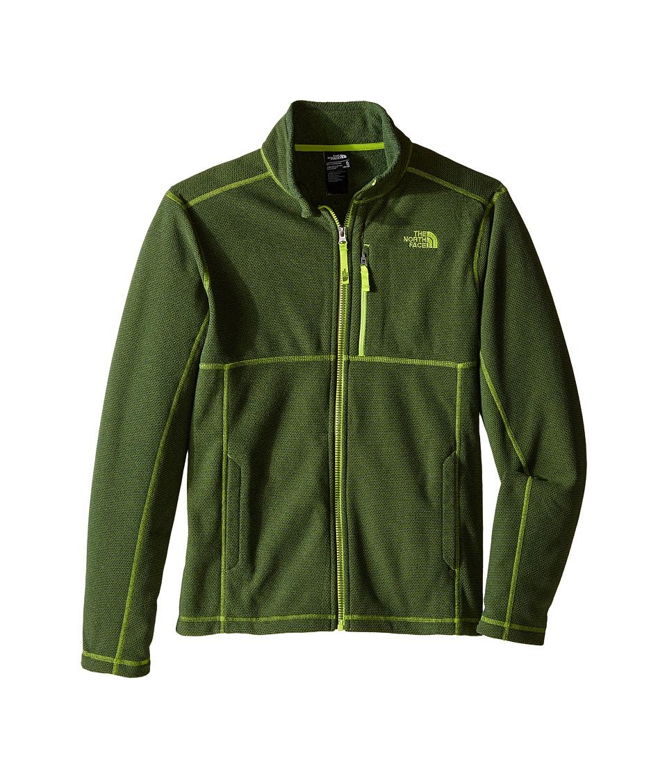 The North Face Kids - Cap Rock Full Zip (Little Kids/Big Kids) (Terrarium Green Heather) Boy's Sweatshirt