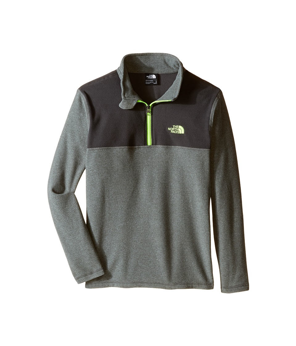 The North Face Kids - Glacier 1/4 Zip (Little Kids/Big Kids) (TNF Medium Grey Heather) Boy's Sweatshirt