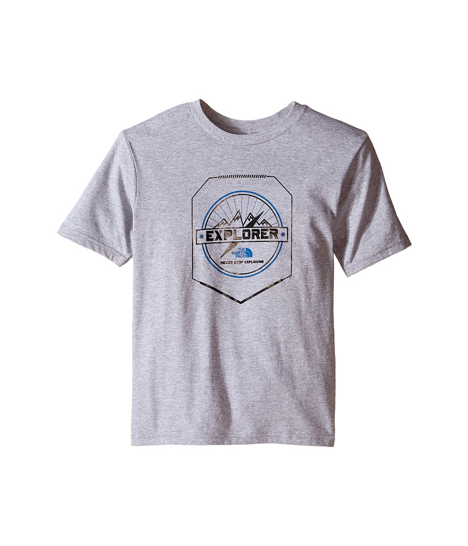 The North Face Kids - Short Sleeve Graphic Tee (Little Kids/Big Kids) (TNF Light Grey Heather) Boy's Clothing