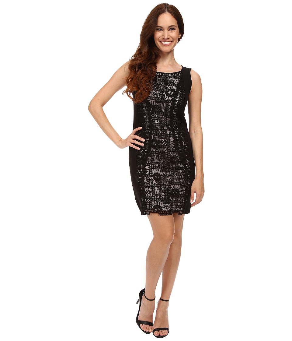 NIC+ZOE - Petite Layered Lace Dress (Black Onyx) Women's Dress