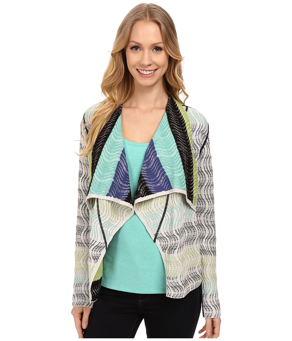 NIC+ZOE - Petite Shaded Waves Reversible Cardigan (Multi) Women's Sweater
