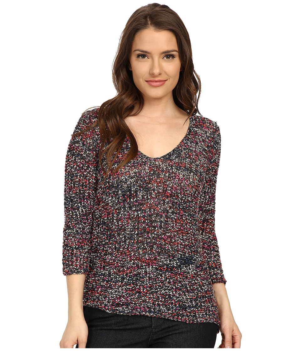 NIC+ZOE - Petite Rhythm and Blues Top (Multi) Women's Blouse