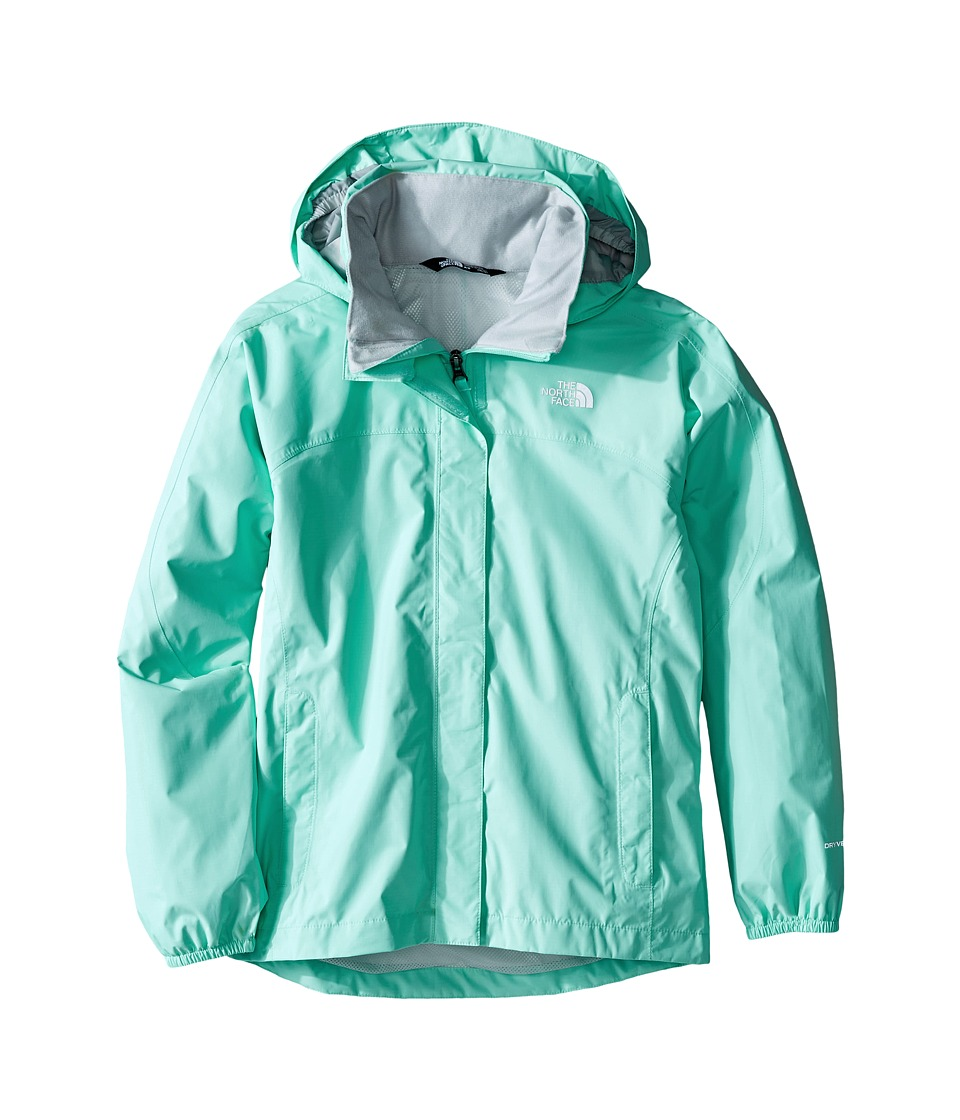 The North Face Kids - Resolve Reflective Jacket (Little Kids/Big Kids) (Ice Green) Girl's Coat