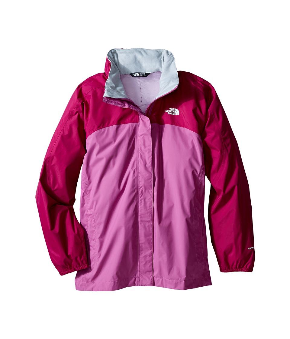 The North Face Kids Resolve Reflective Jacket (Little Kids/Big Kids) (Roxbury Pink/Wisteria Purple) Girl