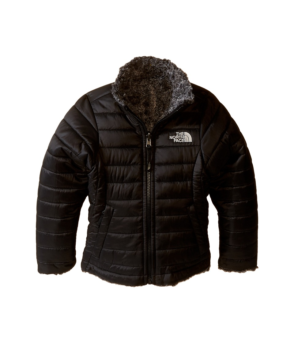 The North Face Kids - Reversible Mossbud Swirl Jacket (Little Kids/Big Kids) (TNF Black/TNF Black Heather) Girl's Coat