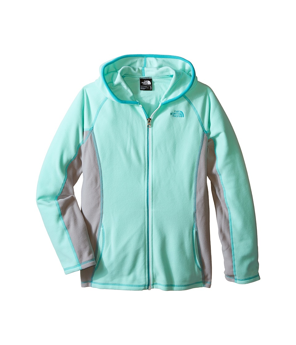 The North Face Kids - Glacier Full Zip Hoodie (Little Kids/Big Kids) (Ice Green) Girl's Sweatshirt
