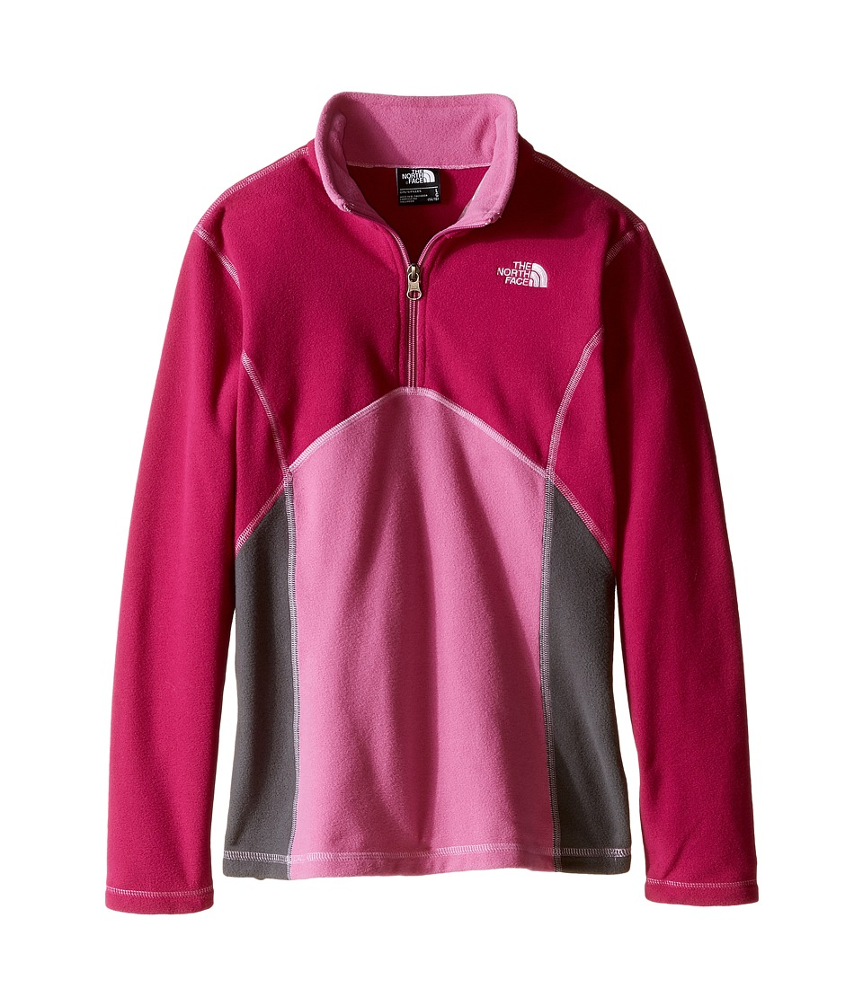 The North Face Kids - Glacier 1/4 Zip (Little Kids/Big Kids) (Roxbury Pink) Girl's Long Sleeve Pullover
