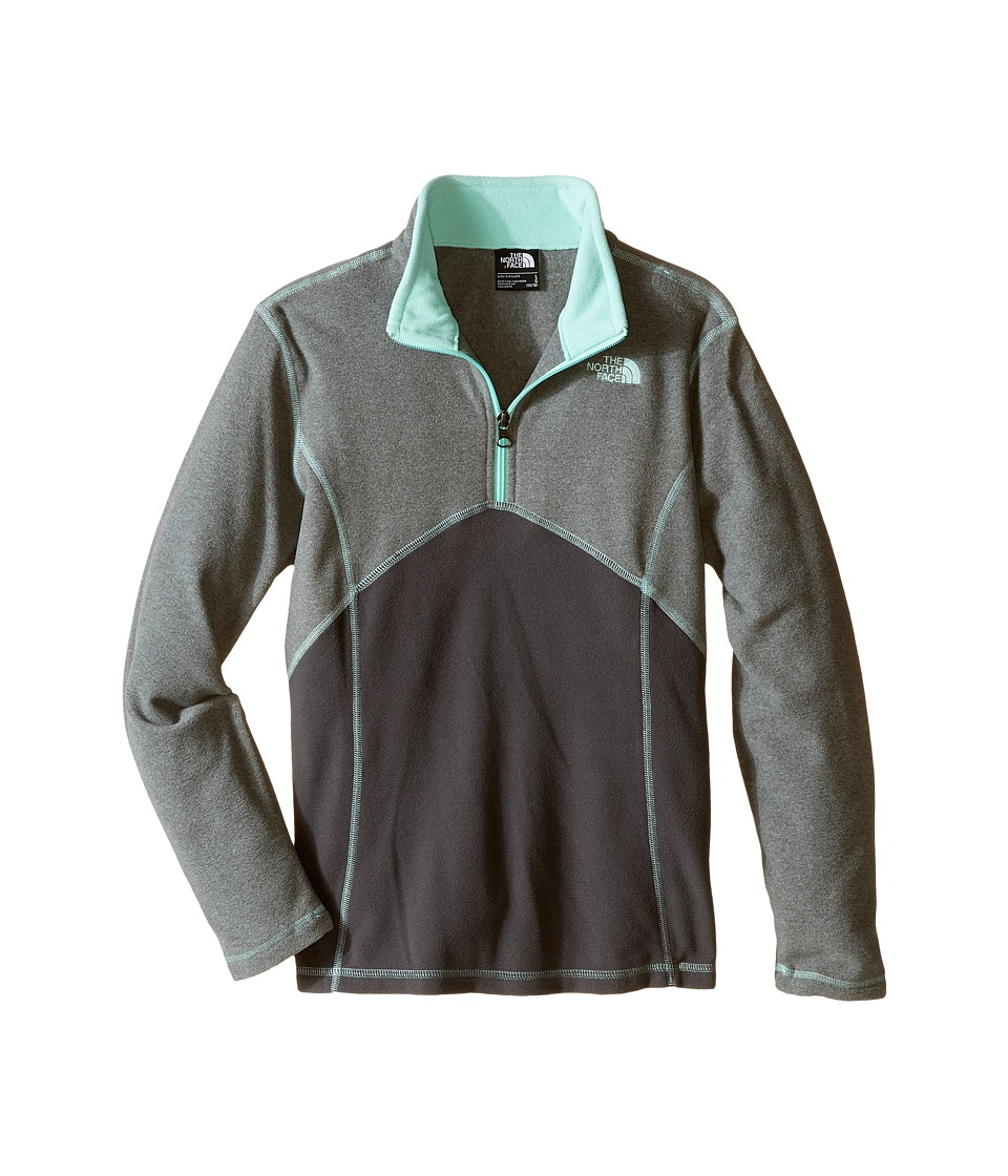 The North Face Kids - Glacier 1/4 Zip (Little Kids/Big Kids) (TNF Medium Grey Heather) Girl's Long Sleeve Pullover
