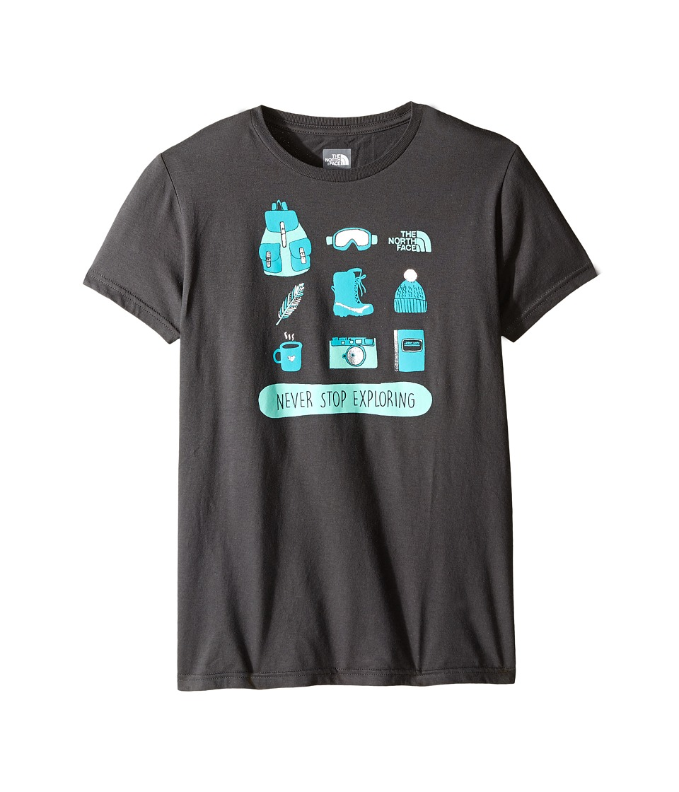 The North Face Kids - Short Sleeve Graphic Tee (Little Kids/Big Kids) (Graphite Grey) Girl's Short Sleeve Pullover