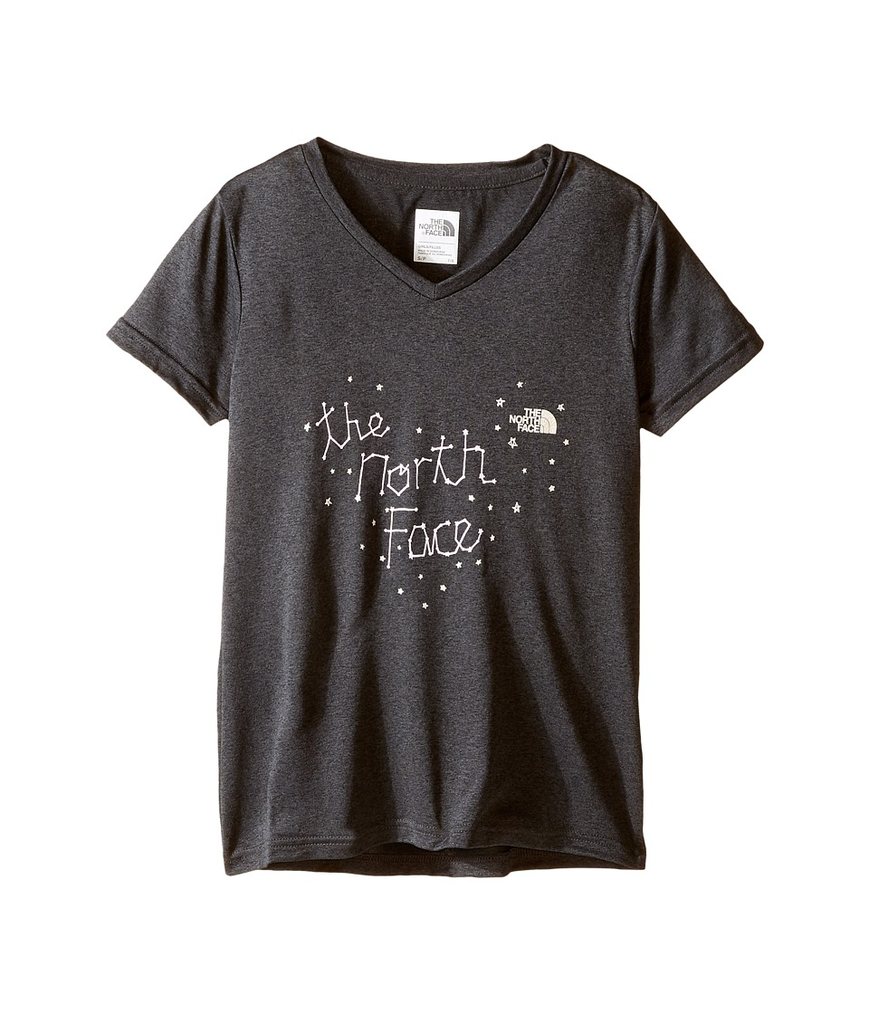 The North Face Kids - Short Sleeve Reaxion Tee (Little Kids/Big Kids) (TNF Dark Grey Heather) Girl's Short Sleeve Pullover
