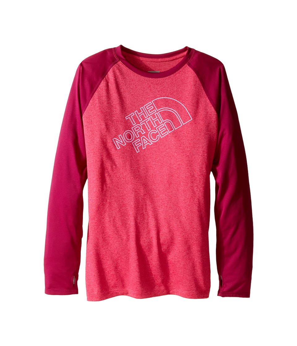 The North Face Kids - Mak Long Sleeve Baseball Tee (Little Kids/Big Kids) (Cabaret Pink Heather) Girl's T Shirt