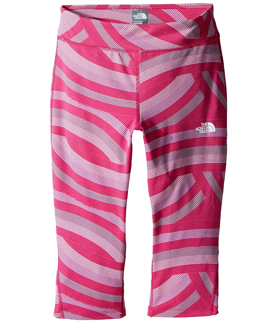 The North Face Kids - Pulse Capris (Little Kids/Big Kids) (Roxbury Pink Curvy Stripe) Girl's Capri