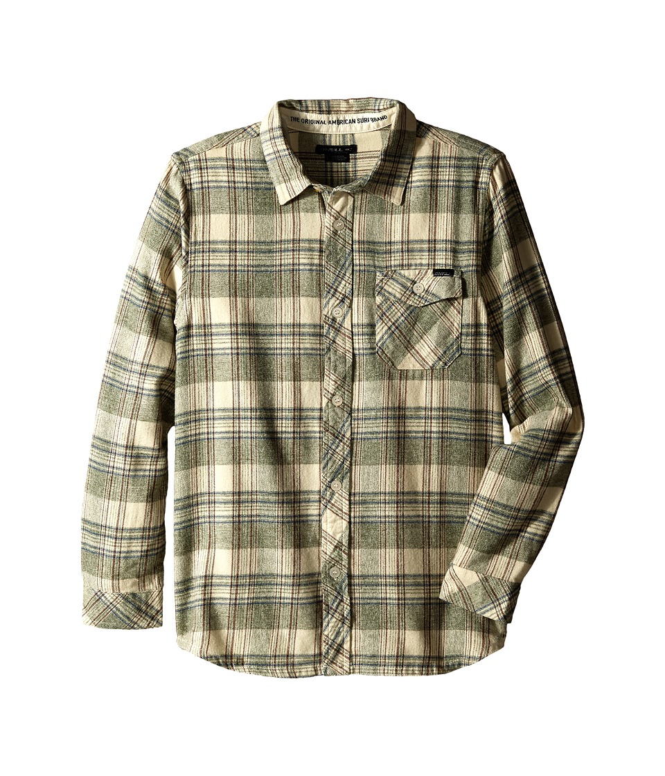O'Neill Kids - Palisade Long Sleeve Shirt (Big Kids) (Turf Green) Boy's Long Sleeve Button Up