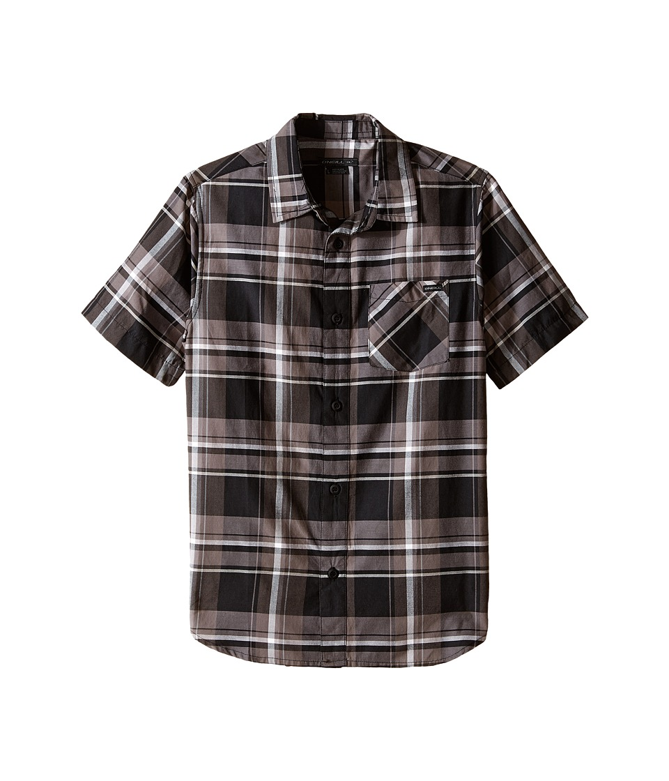 O'Neill Kids - Brigade Short Sleeve Shirt (Big Kids) (Black) Boy's Short Sleeve Button Up