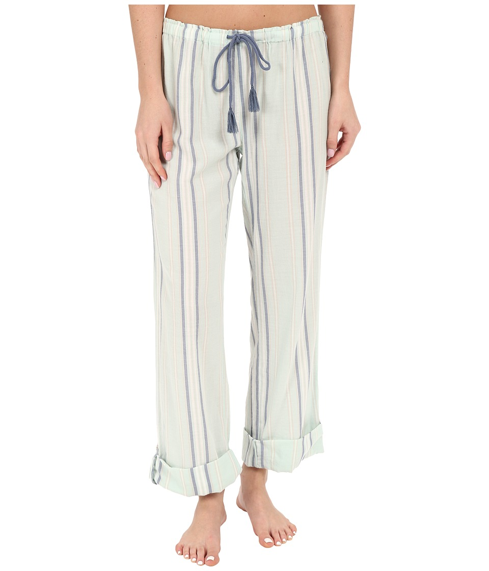 P.J. Salvage - Plaid Twill Cuffed Pants (Seafoam Green) Women's Pajama