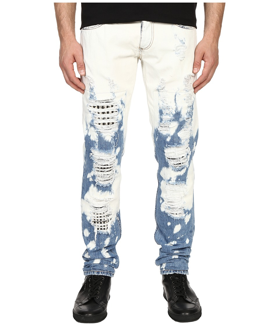 Philipp Plein - Golden Skin Straight Cut Denim (Summer Ice) Men's Jeans