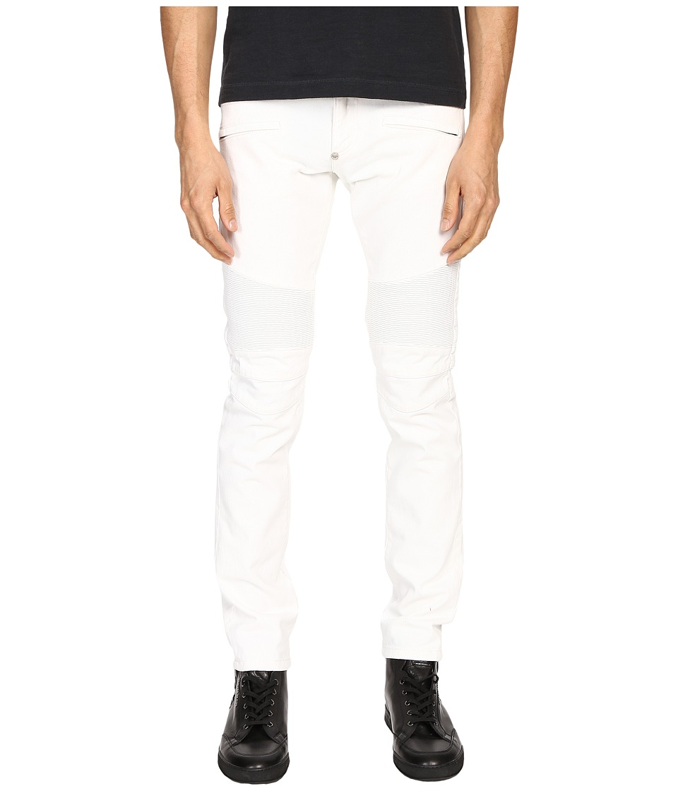 Philipp Plein - Highway Biker Straight Denim (Intimate White) Men's Jeans