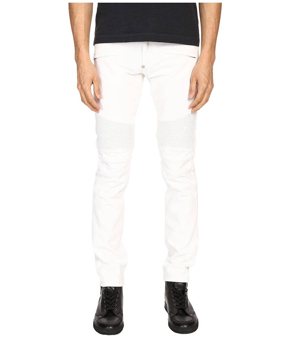 Philipp Plein - Highway Biker Straight Denim (Intimate White) Men's Jeans