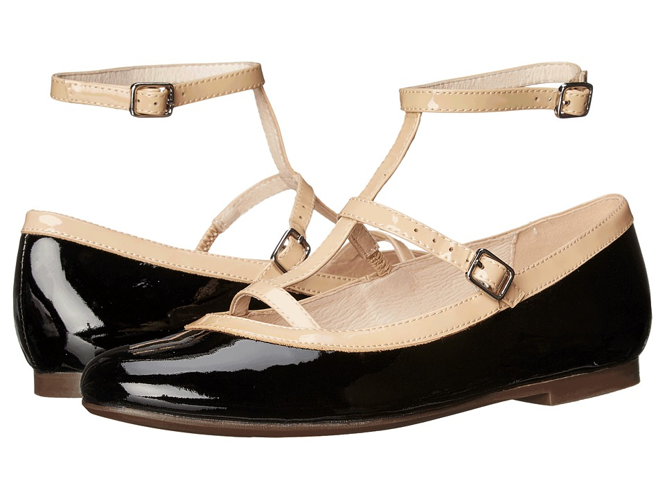 Venettini Kids - 55-Jillian (Little Kid/Big Kid) (Black Sparkle Patent/Sand Patent) Girl's Shoes
