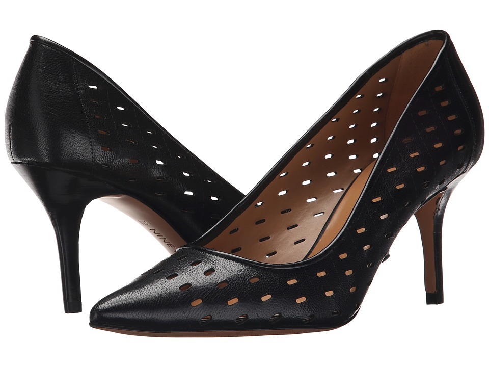 Nine West - Kaydence (Black Leather) High Heels