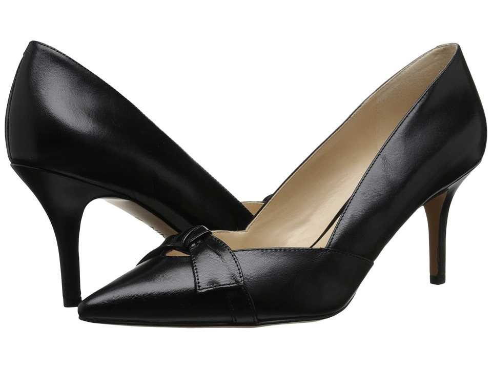 Nine West - Kelda (Black Leather) Women's Slip on Shoes