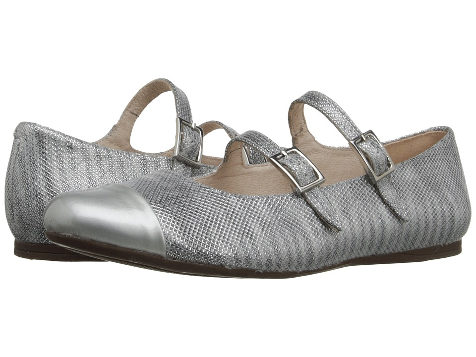 Venettini Kids - 55-Sara (Little Kid/Big Kid) (Silver Patent/Silver Ritzy Leather) Girls Shoes