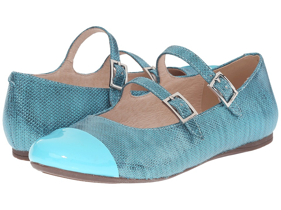 Venettini Kids - 55-Sara (Little Kid/Big Kid) (Turquoise Patent/Turquoise Ritzy Leather) Girls Shoes