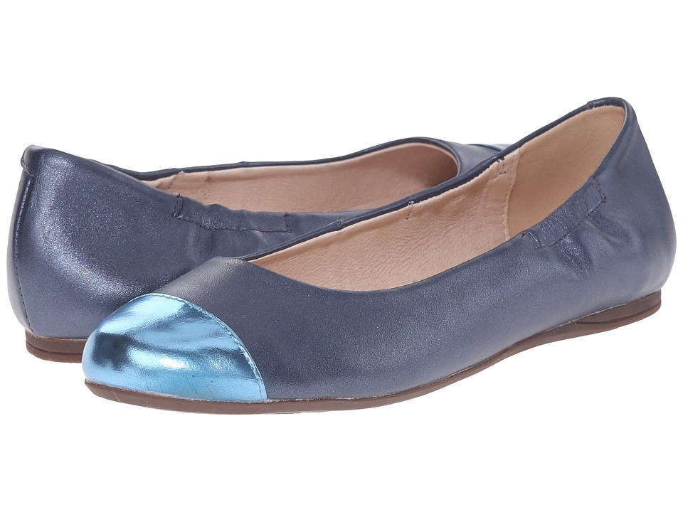 Venettini Kids - 55-Shana (Little Kid/Big Kid) (Celeste Mirror Leather/Blue Pearlized Leather) Girl's Shoes