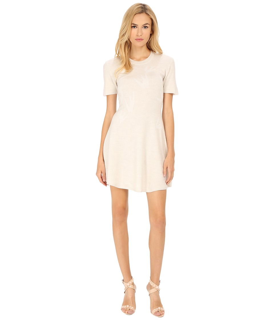 McQ - Swallow Jacquard Dress (Pale Grey Melange) Women's Dress