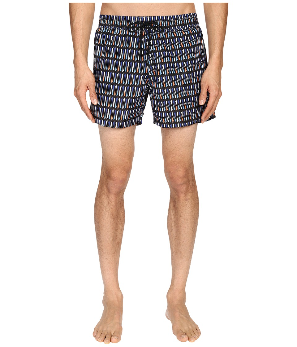 Paul Smith - Geo Print Classic Swim Shorts (Navy/Teal) Men's Swimwear
