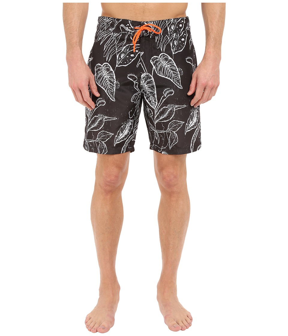 Paul Smith - Botanical Print Surf Swim Shorts (Grey) Men's Swimwear