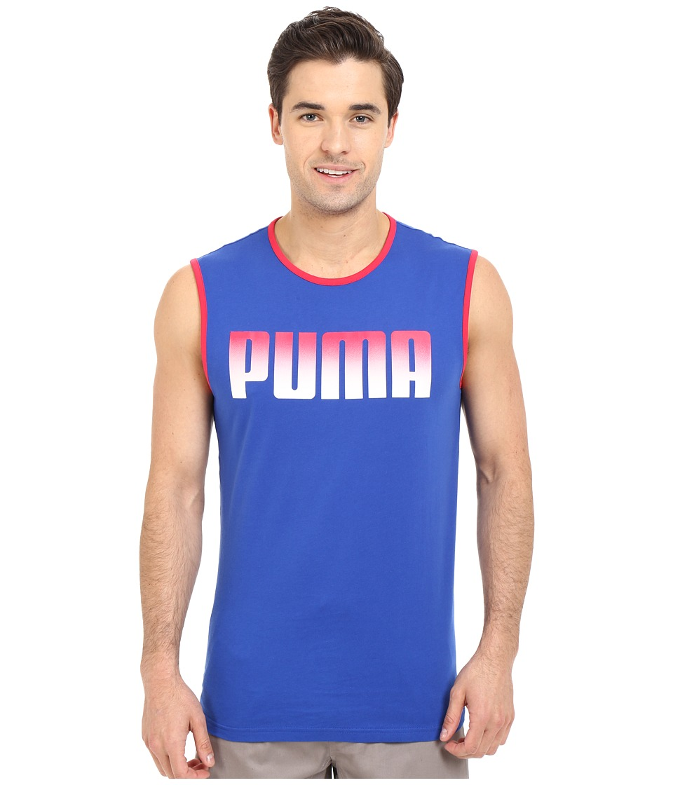 PUMA - Running Logo Tank Top (Surf The Web) Men's Sleeveless