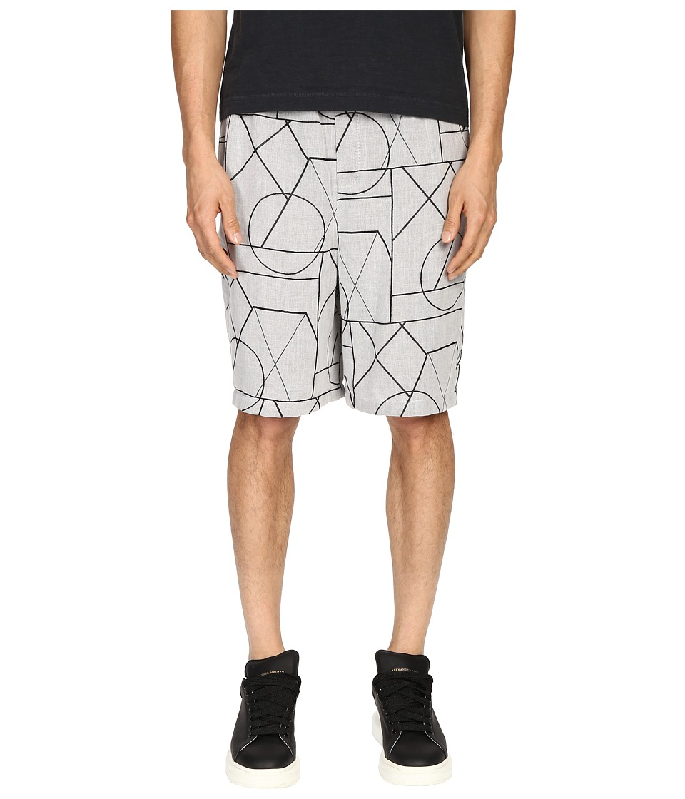 McQ - Elasticated Shorts (Mist Angle) Men's Shorts