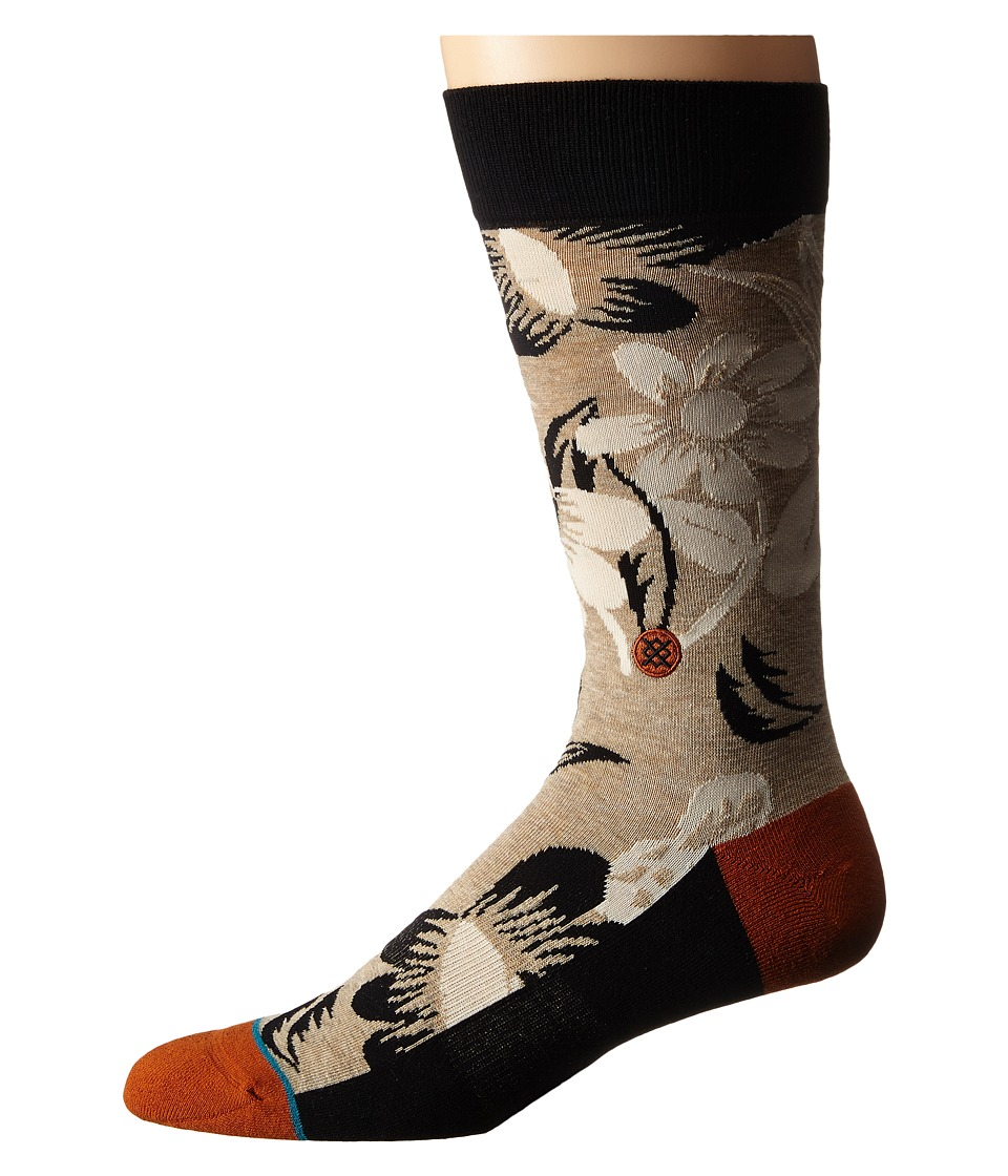 Stance - Hanama (Black) Men's Crew Cut Socks Shoes