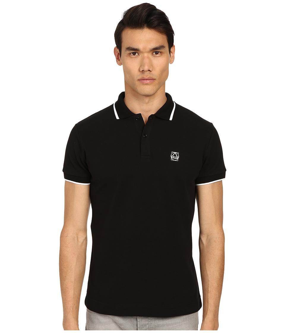 McQ - Coverlock Polo (Darkest Black) Men's Short Sleeve Knit