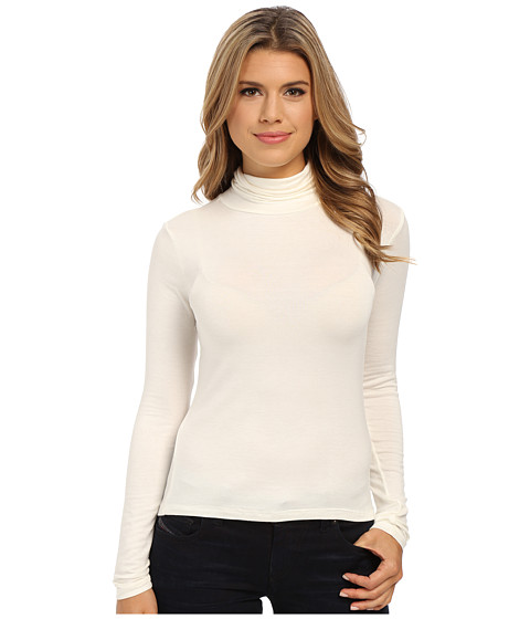 Pink Rose - Turtleneck Knit Top (Ivory) Women