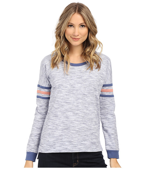 Pink Rose - Long Sleeve Knit Top (Blue Combo) Women