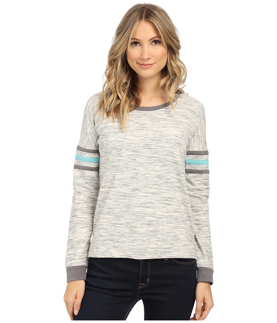 Pink Rose - Long Sleeve Knit Top (Grey Combo) Women's Sweatshirt