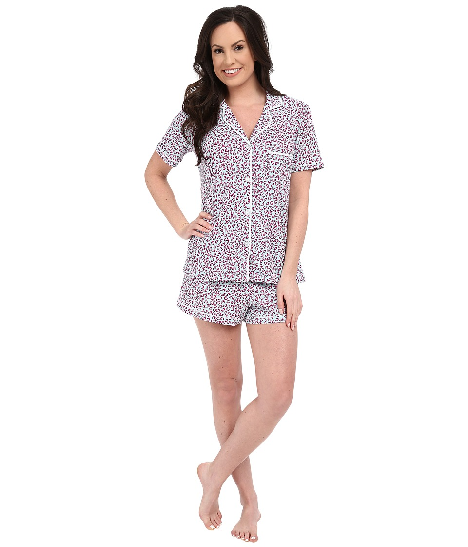 DKNY - A Novel Idea Shorts PJ Set (Spa Animal) Women's Pajama Sets