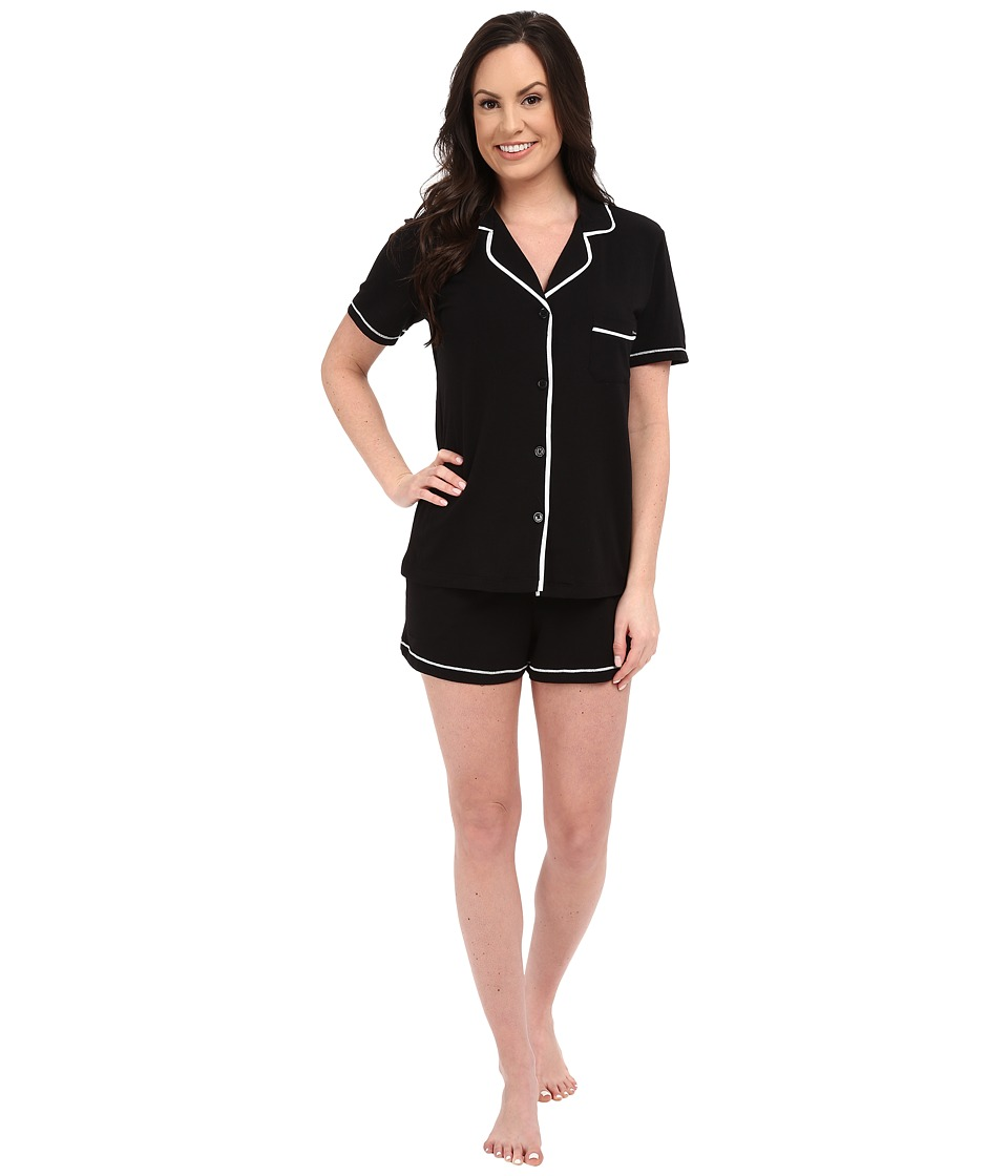 DKNY - A Novel Idea Shorts PJ Set (Black) Women's Pajama Sets