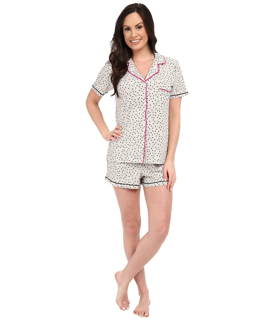 DKNY - A Novel Idea Shorts PJ Set (Light Grey Heather Dot) Women's Pajama Sets