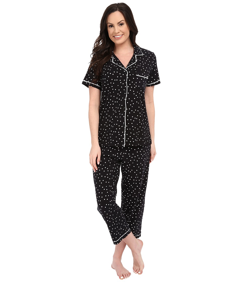 DKNY - A Novel Idea Capris PJ Set (Black Dot) Women's Pajama Sets