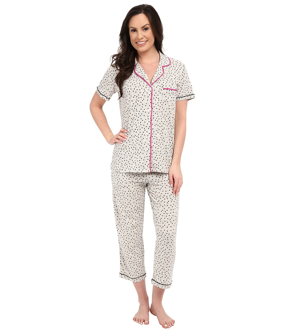 DKNY - A Novel Idea Capris PJ Set (Silver Heather Dot) Women's Pajama Sets