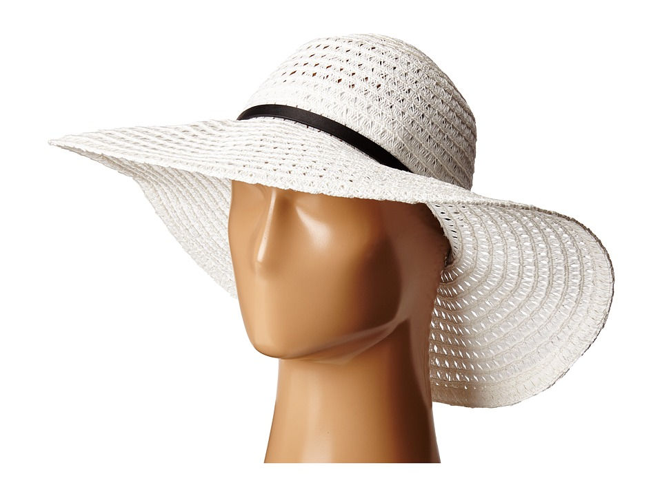 BCBGMAXAZRIA - Vintage Woven Panama (White) Traditional Hats