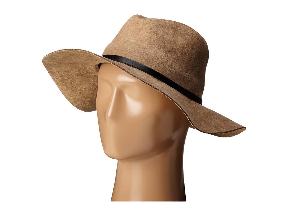BCBGMAXAZRIA - Sueded Panama Hat (Natural) Caps