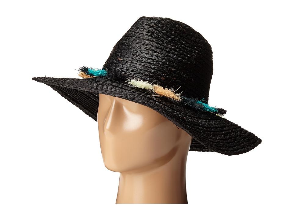 BCBGMAXAZRIA - Tassel Panama Hat (Black) Caps
