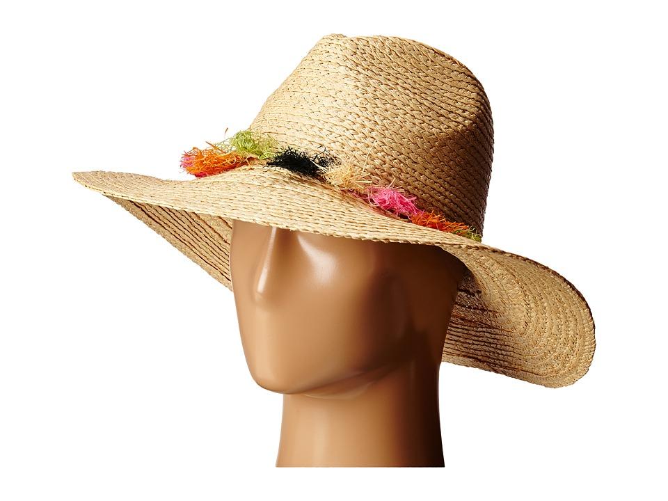 BCBGMAXAZRIA - Tassel Panama Hat (Natural) Caps