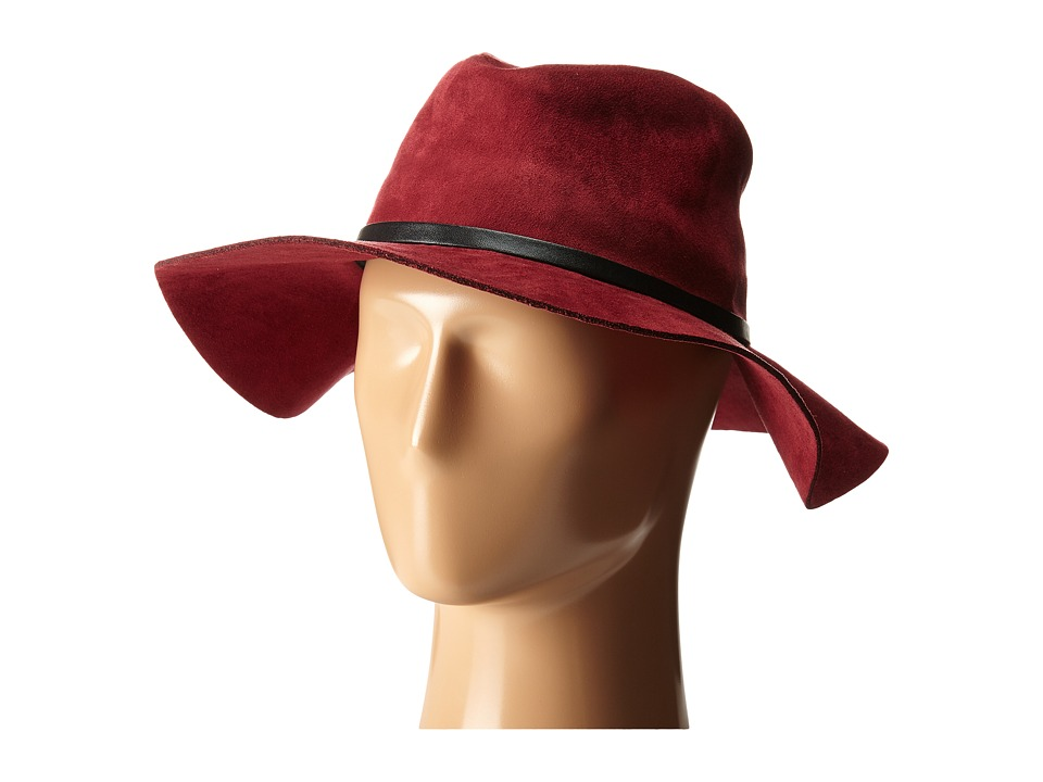 BCBGMAXAZRIA - Sueded Panama Hat (Wine) Caps