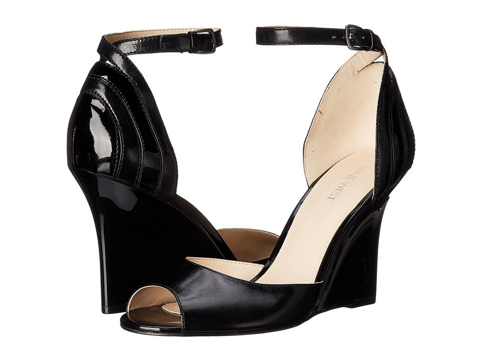 Nine West - Benice (Black/Black Leather) Women